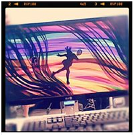 Tagtool / doprovodná videoprojekce k choreografii na téma / tenis