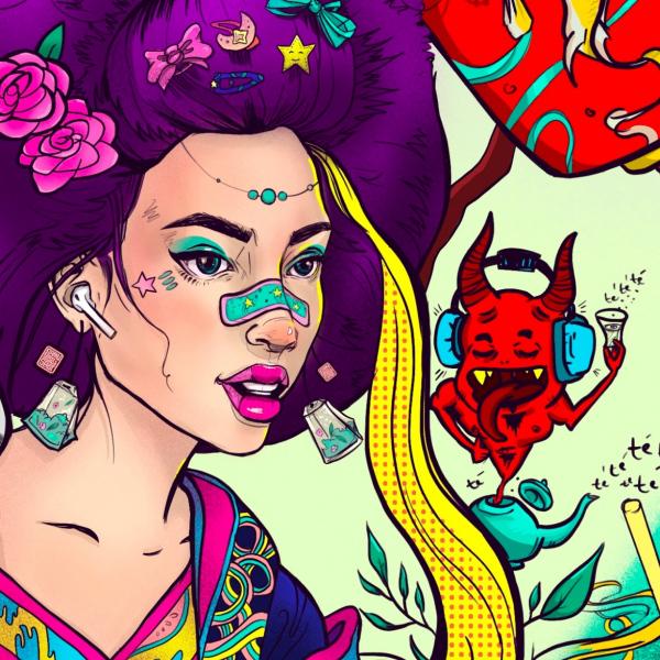 Velvet Geisha / detail